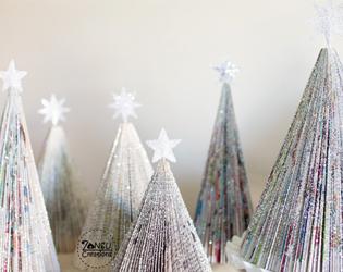 Decorazioni Natalizie Con Carta Di Giornale.Un Natale Da Rivista